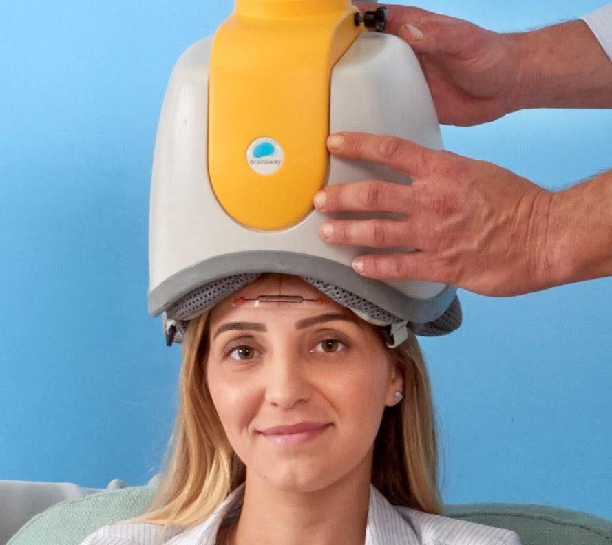 BrainsWay deep TMS OCD helmet